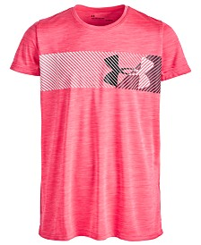 Under Armour Big Girls Hybrid Logo-Print T-Shirt