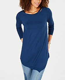 Love Scarlett Petite Asymmetrical Sweater