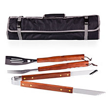 Picnic Time 3-Pc BBQ Tote & Grill Set