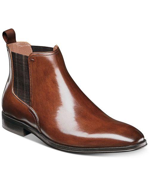 18afee6dd386 Florsheim Men s Beat Plain-Toe Chelsea Gore Boots   Reviews - All ...