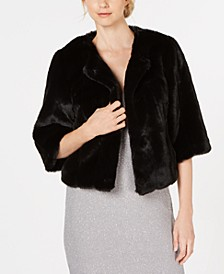 Faux-Fur Shrug