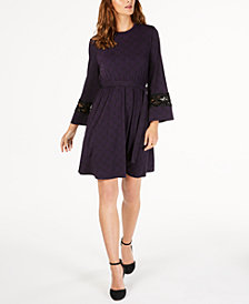 MICHAEL Michael Kors Printed Lace-Trim Dress