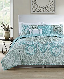 VCNY Home Tory Reversible Quilt Set Collection