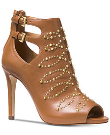 MICHAEL Michael Kors Jordana Open-Toe Booties