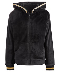 Ideology Little Girls Velour Zip-Up Hoodie, Created for Macy's