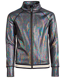 Ideology Big Girls Plus Mermaid-Print Zip-Up Jacket, Created for Macy's