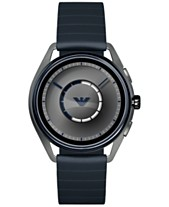 ac585baf6 Emporio Armani Men's Blue Rubber Strap Touchscreen Smart Watch 43mm