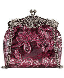 Patricia Nash Rosaria Metallic Embossed Leather Shoulder Bag, Created for Macy's