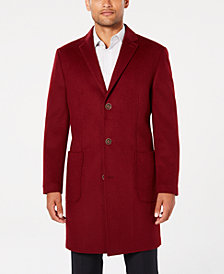 Tallia Men's Slim-Fit Solid Overcoat