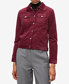 Calvin Klein Jeans Corduroy Fleece-Lined Jacket