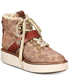 COACH Urban Signature Hiker Boots