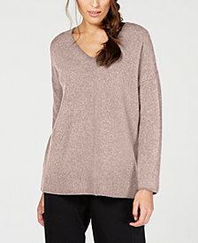 Eileen Fisher Cashmere V-Neck Sweater