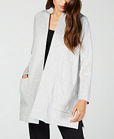 Eileen Fisher Open Patch-Pocket Long Cardigan