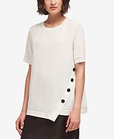 DKNY Asymmetrical T-Shirt, Created for Macy's