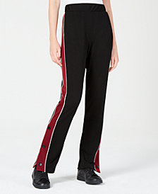XOXO Juniors' Snap-Side Track Pants