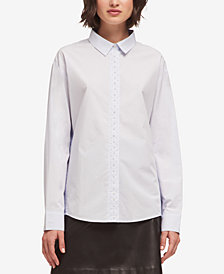 DKNY Cotton Faux-Pearl Embellished Blouse, Created for Macy's