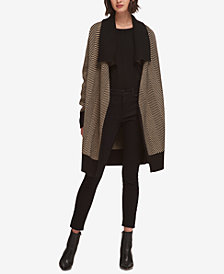DKNY Herringbone Sweater Coat, Created for Macy's