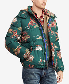 Polo Ralph Lauren Men's Cowboy Print Water-Repellent Down Jacket