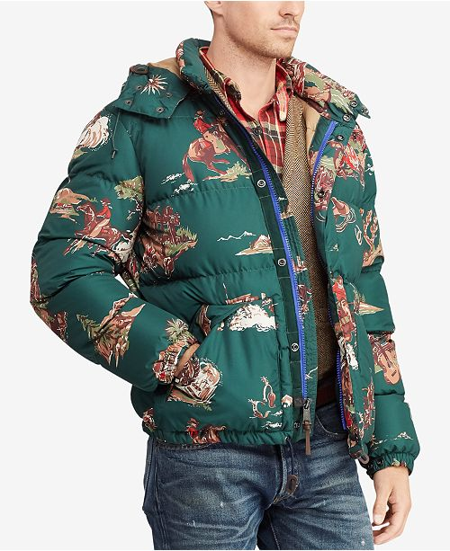 6684bd4b5c12b ... Polo Ralph Lauren Men s Cowboy Print Water-Repellent Down Jacket ...