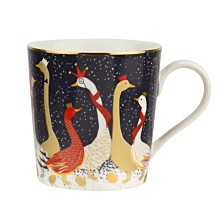 CLOSEOUT! Sara Miller Christmas Geese 12oz Mug