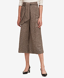 DKNY Wide-Leg Cropped Pants, Created for Macy's