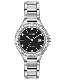Eco-Drive Women's Silhouette Crystal Stainless Steel Bracelet Watch 31mm