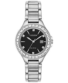 Citizen Eco-Drive Women's Silhouette Crystal Stainless Steel Bracelet Watch 31mm