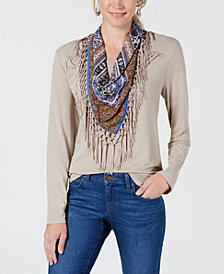 Style & Co Scarf Top, Created for Macy's