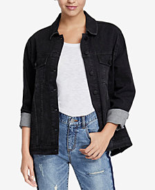 RACHEL Rachel Roy Beaded Denim Jacket