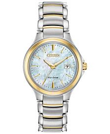 Eco-Drive Women's Chandler Two-Tone Stainless Steel Bracelet Watch 30mm