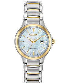 Citizen Eco-Drive Women's Chandler Two-Tone Stainless Steel Bracelet Watch 30mm
