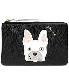 Radley London Frenchie Zip-Top Pebble Leather Coin Wallet in support of the ASPCA
