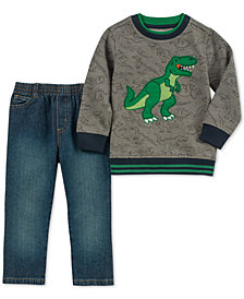 Kids Headquarters Toddler Boys 2-Pc. Dinosaur Top & Denim Jeans Set