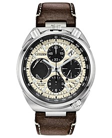 Eco-Drive Men's Chronograph Promaster Tsuno  Racer Brown Leather Strap Watch 45mm - A Limited Edition