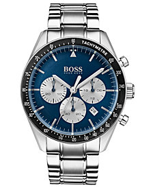 BOSS Hugo Boss Men's Chronograph Trophy Stainless Steel Bracelet Watch 44mm