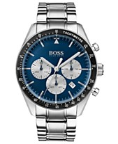b7e0fa0b9 BOSS Hugo Boss Men's Chronograph Trophy Stainless Steel Bracelet Watch 44mm