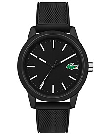 Men's 12.12 Black Silicone Strap Watch 42mm