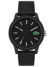 60f2b397b Lacoste Men's 12.12 Green Silicone Strap Watch 42mm & Reviews ...