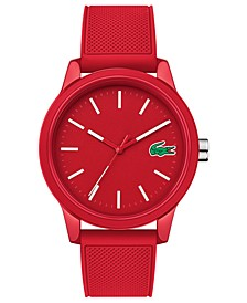 Men's 12.12 Red Silicone Strap Watch 42mm