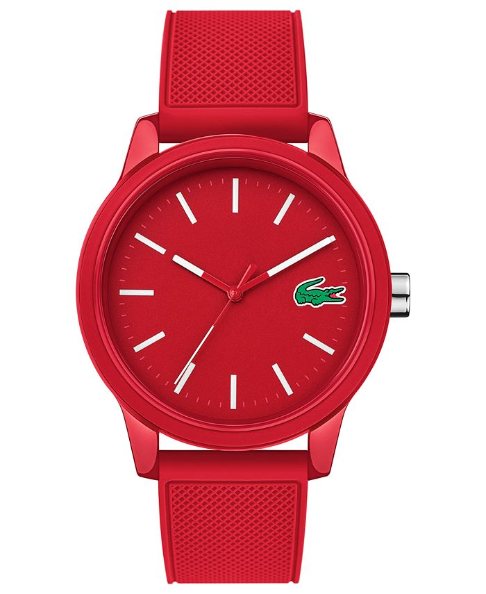 Lacoste - Men's 12.12 Red Silicone Strap Watch 42mm
