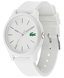 Men's 12.12 White Silicone Strap Watch 42mm