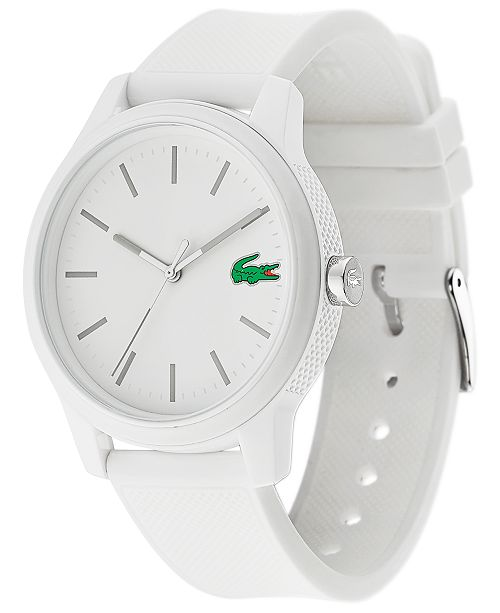 47741a6875 Men's 12.12 White Silicone Strap Watch 42mm