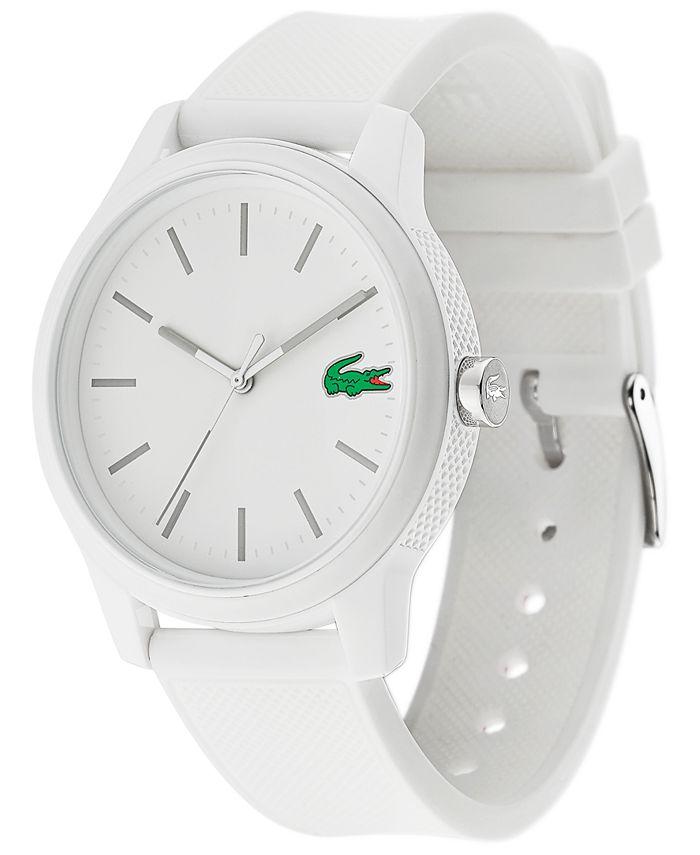 Lacoste - Men's 12.12 White Silicone Strap Watch 42mm