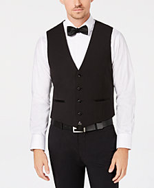Calvin Klein Men's Slim-Fit Stretch Black Vest