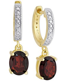 Sapphire (3 ct. t.w.) & Diamond Accent Drop Earrings in 18k Gold-Plated Sterling Silver (Also in Rhodolite Garnet, Blue Topaz & Amethyst)