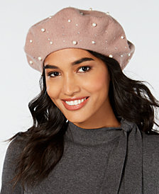 I.N.C. Embellished Wool Beret, Created for Macy's