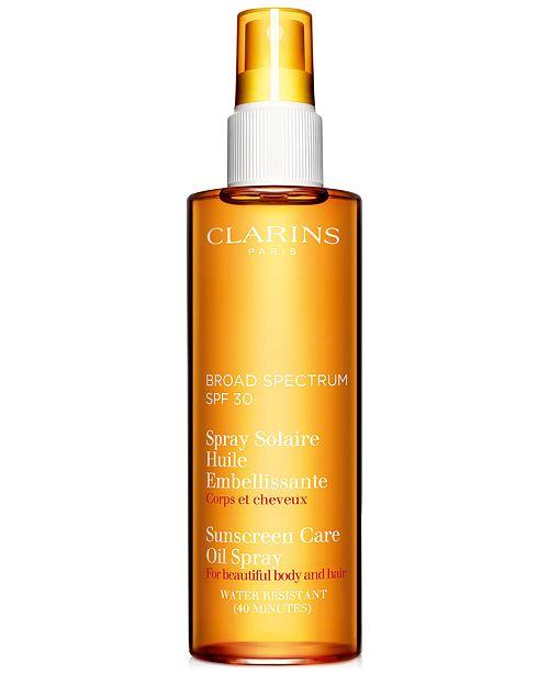 Clarins Sunscreen Care Oil Spray SPF 30 Body & Hair, 5 fl. oz.