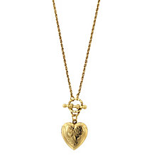 2028 Gold-Tone Heart Locket Toggle Necklace 18""