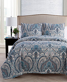 VCNY Home Layla 3-Pc. Damask Full/Queen Quilt Set