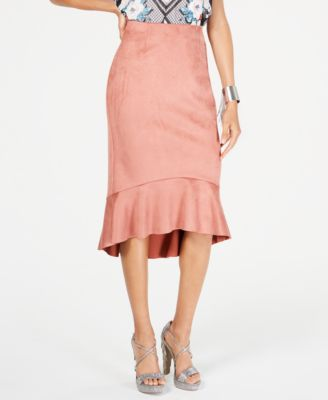 Flounce-Hem Pencil Skirt, Created for Macy's